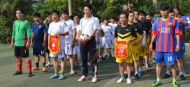 Tham dự giao lưu bóng đá chào mừng kỷ niệm 55 năm ngày Bến Tre Đồng Khởi (17/01/1960 – 17/01/2015)