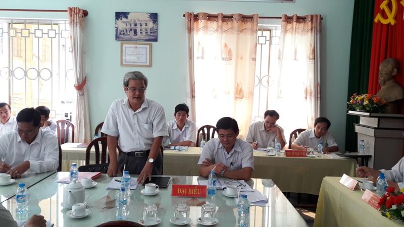 Đ/c Nguyễn Văn Ngân – Phó Giám đốc Sở Nông nghiệp và PTNT phát biểu tại Hội nghị. (Ảnh: Châu Nhật Đông)
