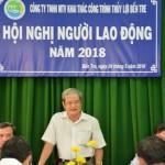 Ông Nguyễn Văn Ngân giải trình những đóng góp, những đề xuất, kiến nghị của Người lao động. (Ảnh: Nguyễn Duy)