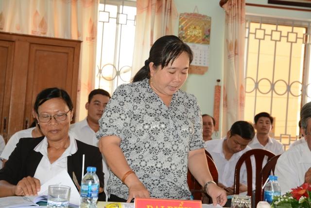 Bà Nguyễn Thị Kim Chi phát biểu ý kiến