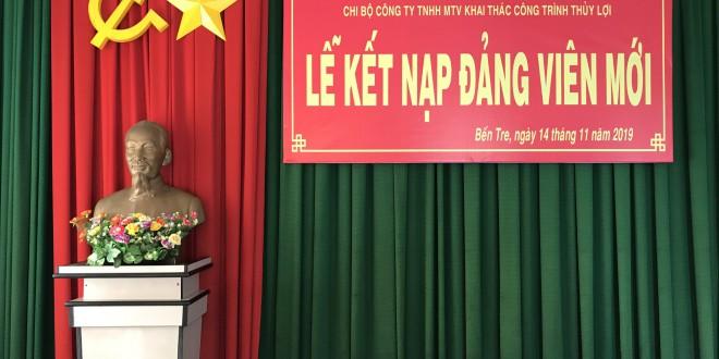Lễ kết nạp đảng viên mới (Đồng chí: Lê Hồ Thanh Huy)